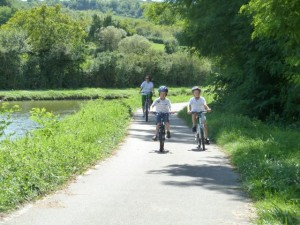 One of my favorite greenways, the Canal du Centre in Burgundy