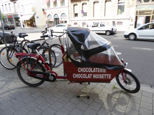 Chocolate by bike too, i'm not joking!