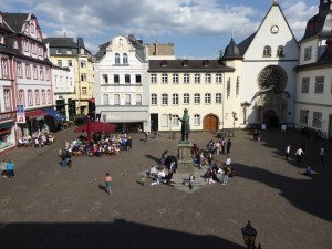 The main square in Altstadt, the Old Town in Koblenz