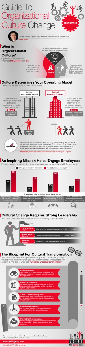 Guide to Organizational Culture Change (Infographic