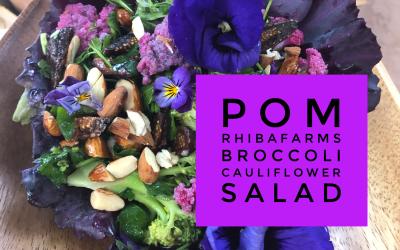 Experience Nutrition: Farm-to-Table with Pomegranate Café and Rhibafarms: Broccoli Cauliflower Fig Salad