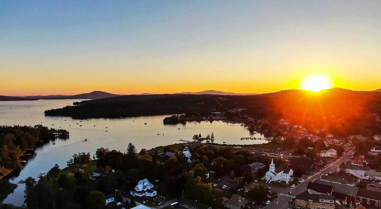 Rangeley at sunset