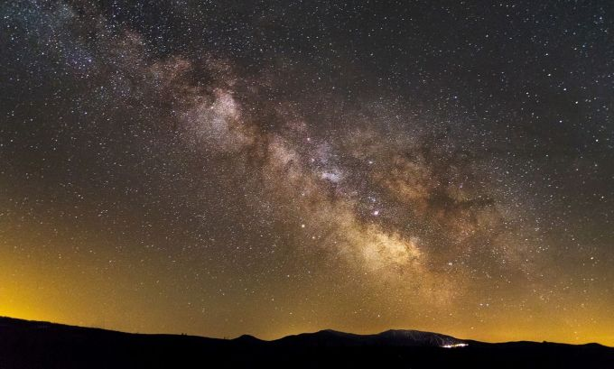Milky Way over Saddleback Mt