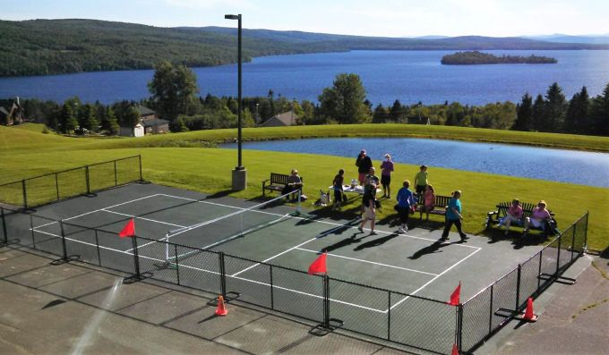 Pickleball court at Rangeley Lakes Health and Wellness