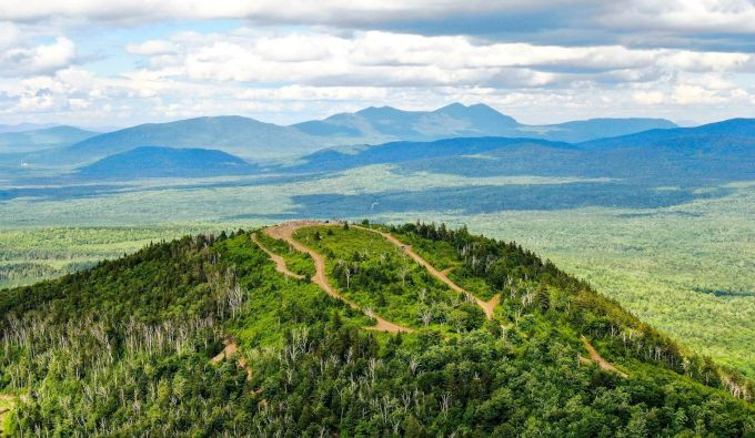 Quill Hill, Maine, road to summit