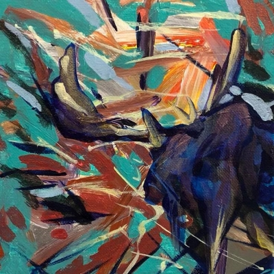 Painting of moose