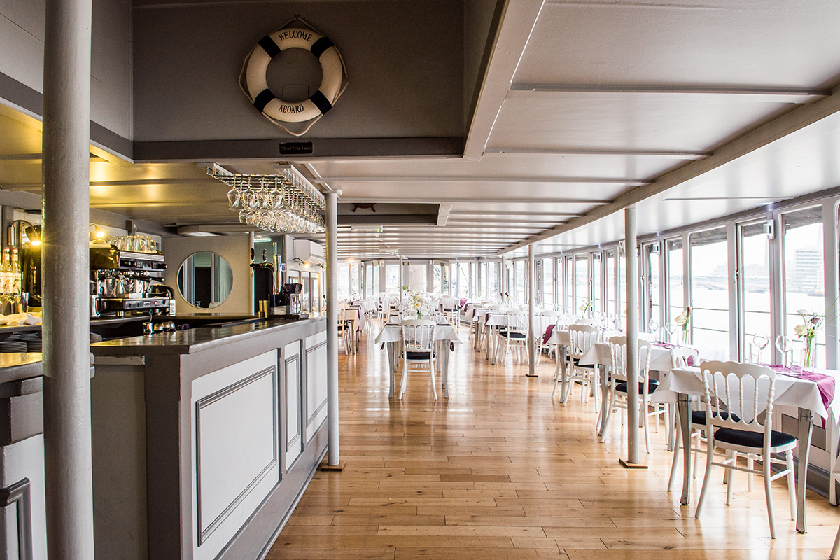 Riverside Afternoon Tea for Two on The Yacht London