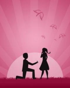 amour dde en mariage romantique
