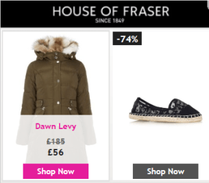 Skype Adverts for House of Fraser.
