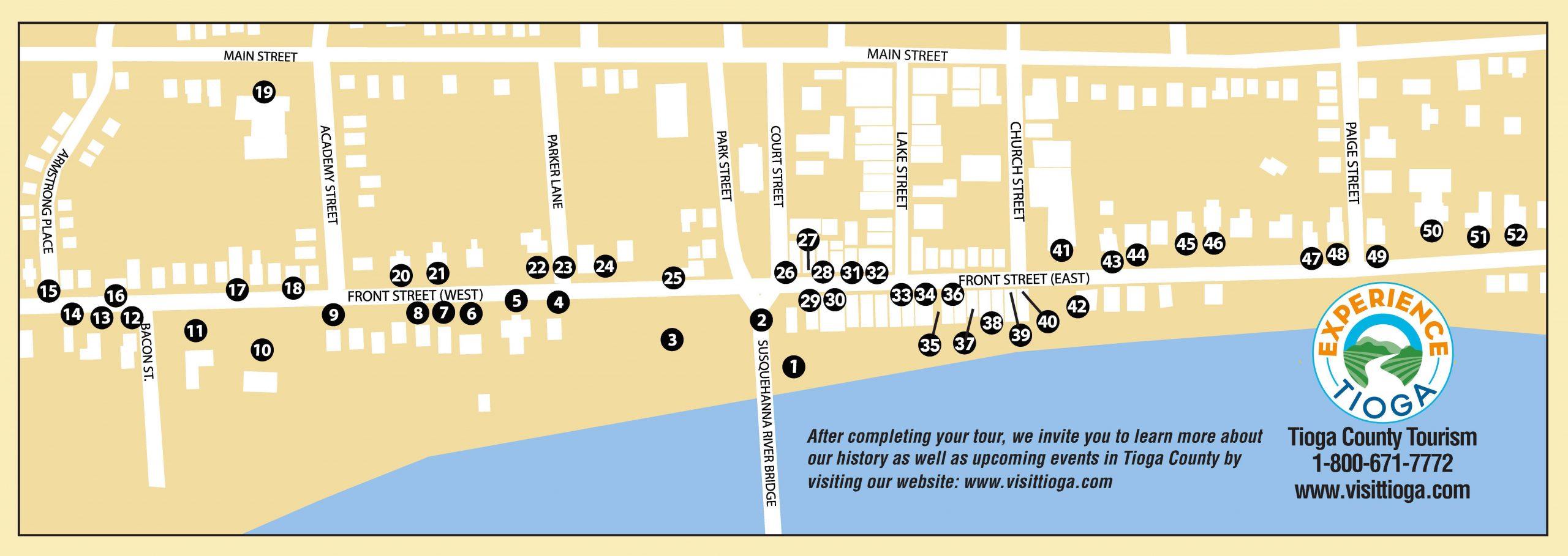 Historic Owego Walking Tour Brochure Map