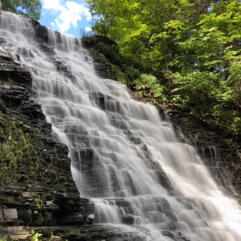 Waverly Glen Park Tioga County Waterfall 1
