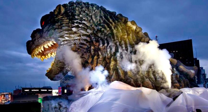 Godzilla Head at Toho Cinemas Shinjuku