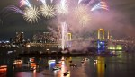 Winter Fireworks at Rainbow Bridge 2015 schedule