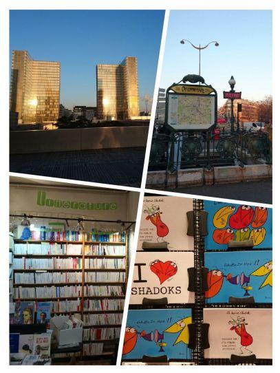 arbeitsreiche Bücherwoche in Paris...