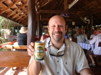 cooling off at The Condom Cottage with my favorite beer