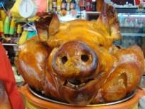 Pork at a Cuenca market