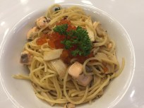 Spicy Thai Seafood and pasta