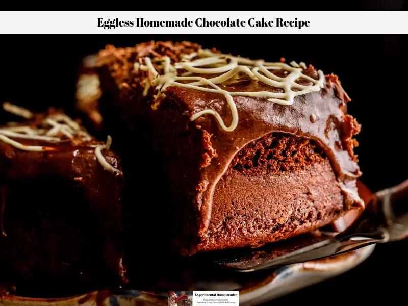 Eggless Homemade Chocolate Cake Recipe Experimental Homesteader
