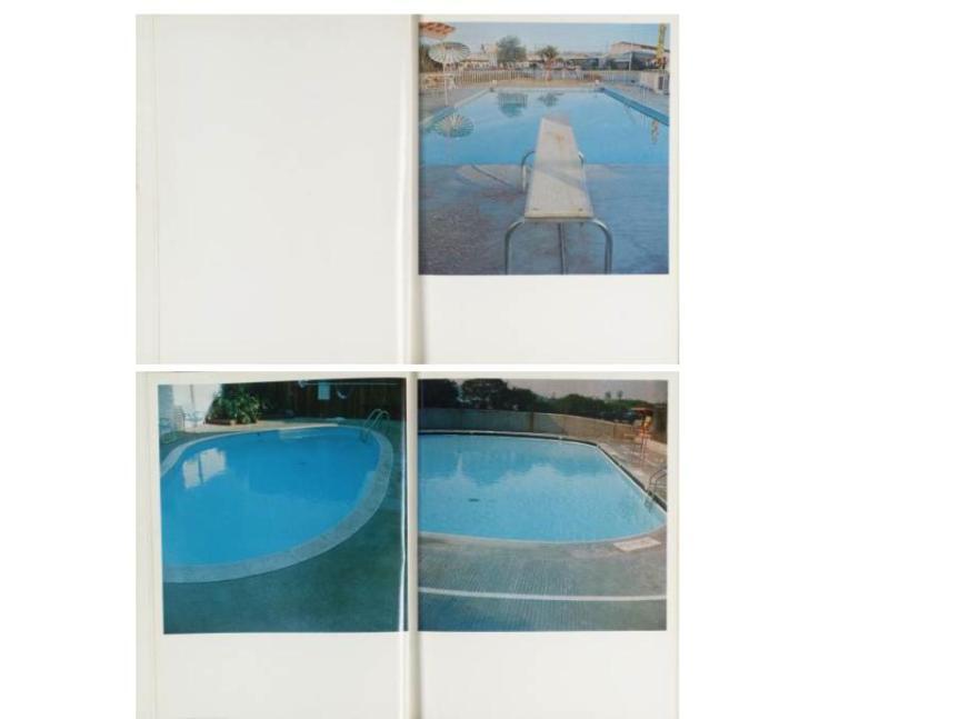 Ed Ruscha Nine Swimming Pools 1968-1997 nine color coupler prints each: 16 x 16 in.