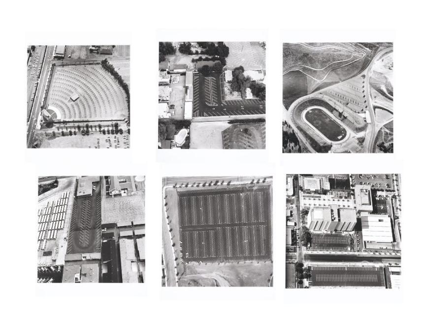 From his first prints and artist's books made in the early 1960s to his latest projects, Ruscha has created a body of editioned work that is uniquely Parking Lots (aerial views) 30 1967/99 American in both subject and sensibility. He first began making prints in the late 1950s, and produced his first lithograph in 1962, which was soon followed by his landmark book, Twentysix Gasoline Stations. Containing 26 color and black-and-white photographs of filling stations on Route 66 between Los Angeles and Oklahoma City, the book was like nothing the art world had seen before. Throughout the 1960s and 1970s, Ruscha continued to publish similar books, filled with photographs depicting commonplace items or locations that commented on the sterility and anonymity of the Los Angeles landscape. These works are now considered pivotal in the history of the contemporary artist's book.