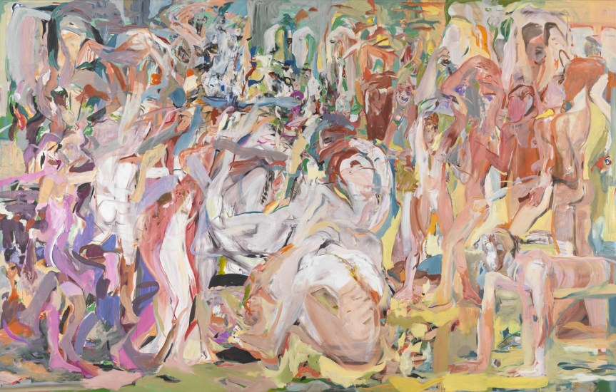 Cecily Brown Untitled (The Beautiful and Damned), 2013 Oil on linen 109 × 171 in 276.9 × 434.3 cm