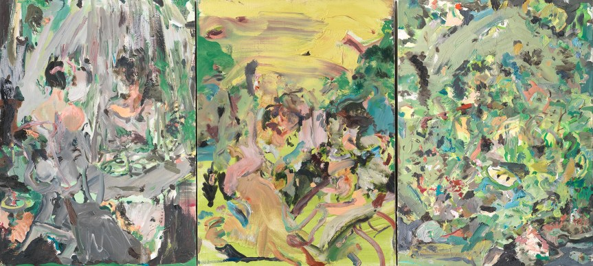 Cecily Brown Fair of Face, Full of Woe, 2008. Oil on canvas each canvas: 17 × 13 1/8 in. (43.2 × 33.3 cm) http://artistproject.metmuseum.org/6/cecily-brown/