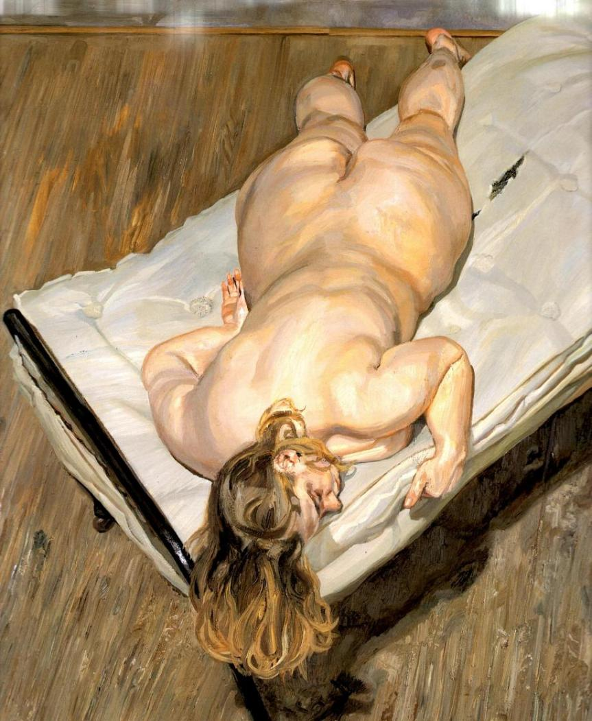 Lucian Freud Night Portrait, Face Down Oil on Canvas 1999-2000 http://pictify.saatchigallery.com/633914/night-portrait-face-down-lucian-freud-wikipaintingsorg