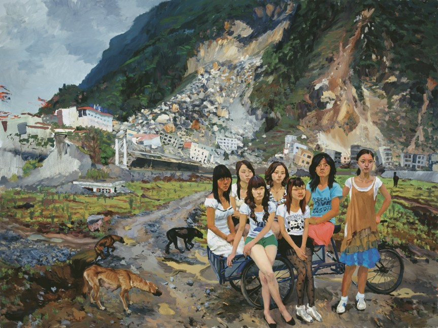 Liu Xiaodong Out of Beichuan, 2010 Oil on canvas 300 x 400 cm / 118 x 157 1/2 in http://www.lissongallery.com/artists/liu-xiaodong/gallery/928