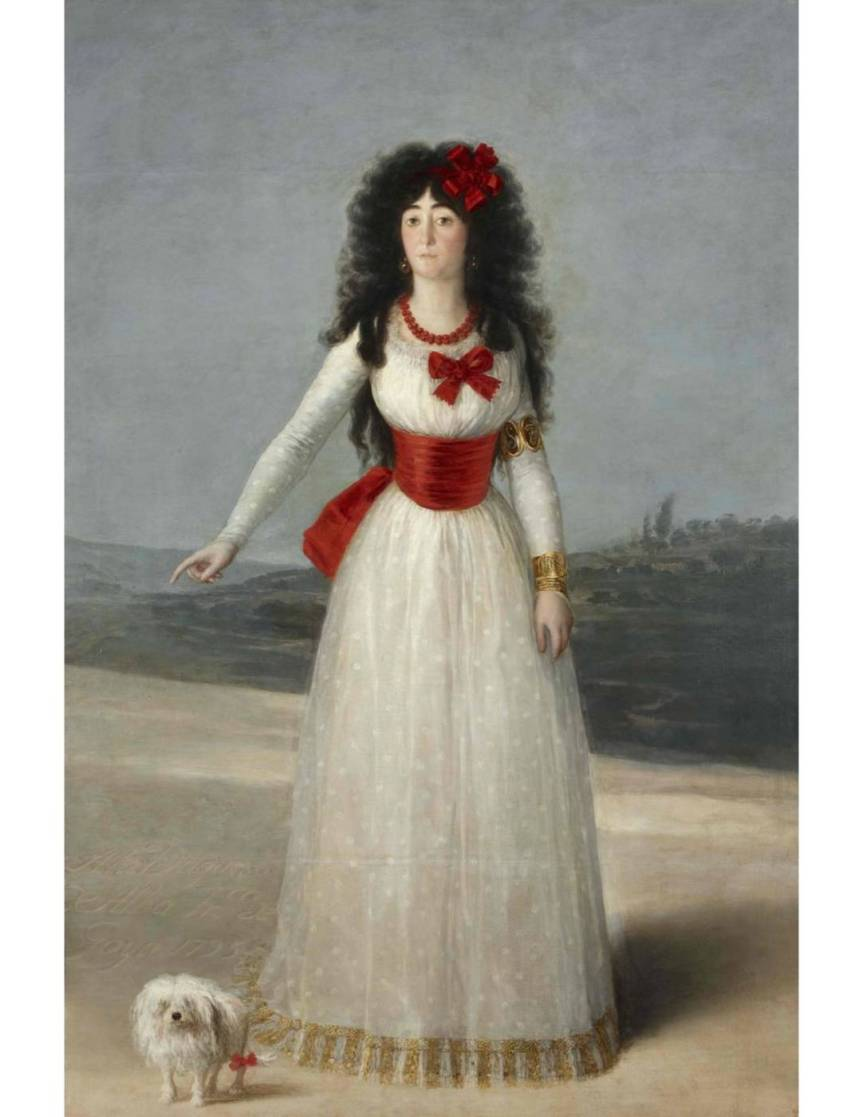 Francisco Goya The White Duchess / La Duquesa Blanca (194 x 130 cm) oil on canvas 1795