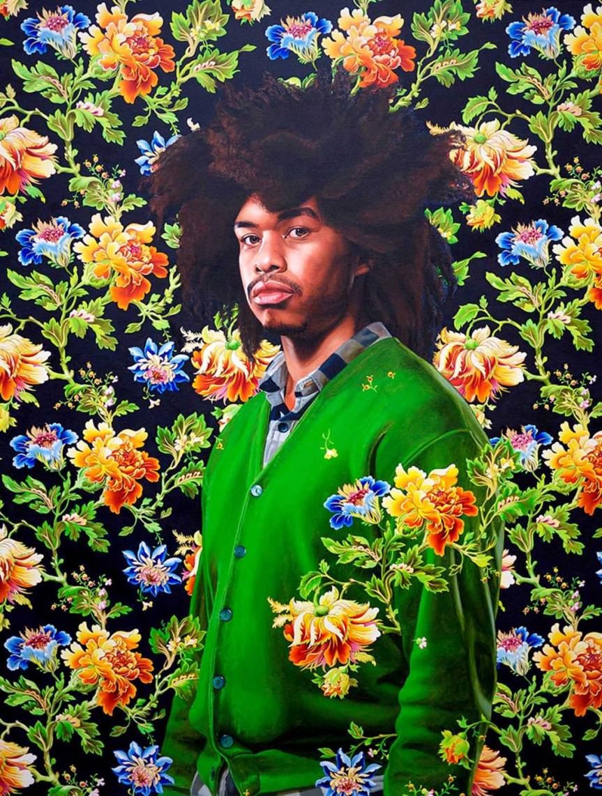 "Terence Nance III, 2011, Oil on canvas 28"" x 21.5"" http://kehindewiley.com/works/selected-work-2011/"