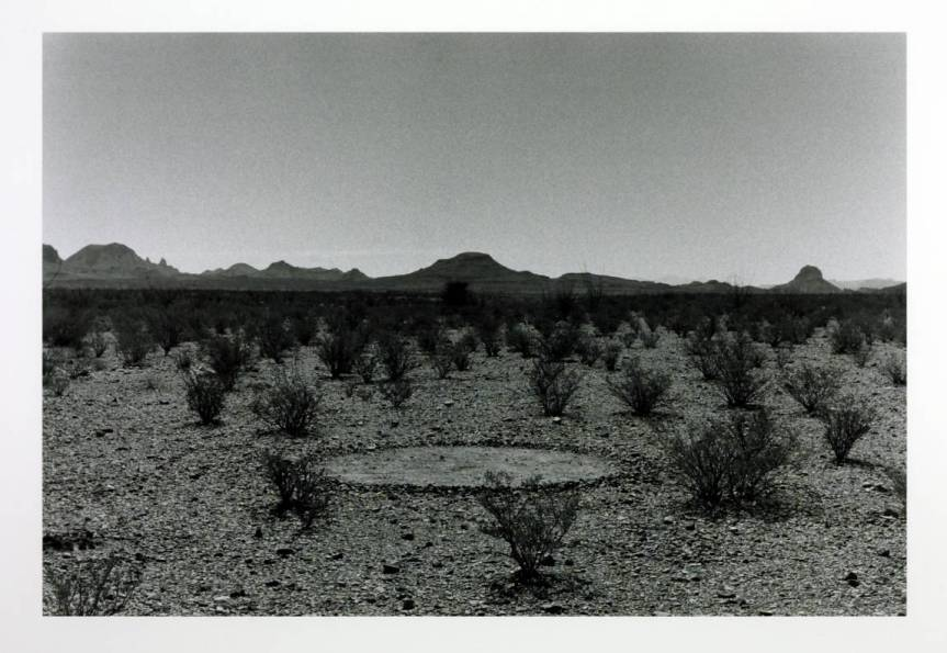 Silence Circle Big Bend Texas 1990 Richard Long born 1945 Purchased with assistance from the American Fund for the Tate Gallery, courtesy of Edwin C. Cohen and General Atlantic Partners 1991 http://www.tate.org.uk/art/work/T06472