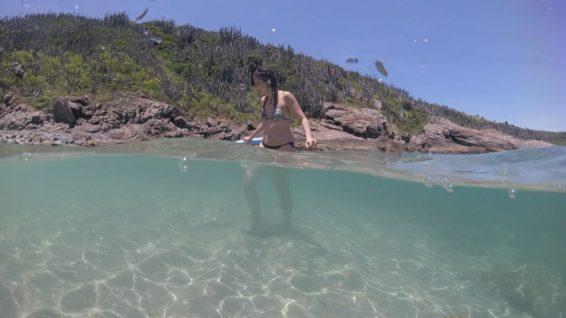 Bruna na Ilha dos Papagaios - Foto: ExperimenteSP
