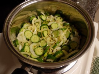 Pickles on the stove
