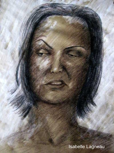 portrait de femme fait en 2017