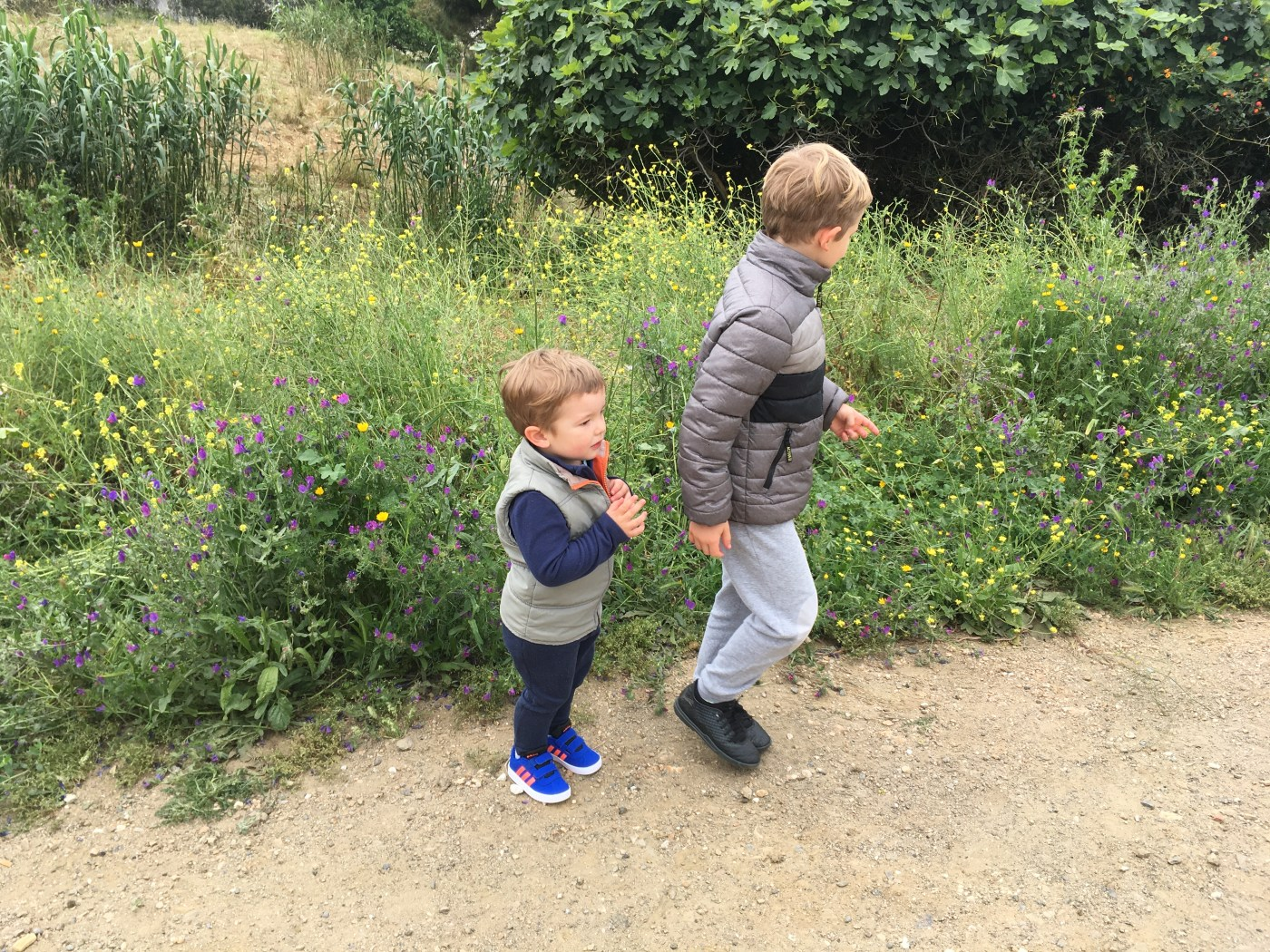 Children in Spain are allowed out for a walk
