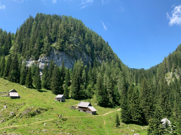 View from the mountain hut