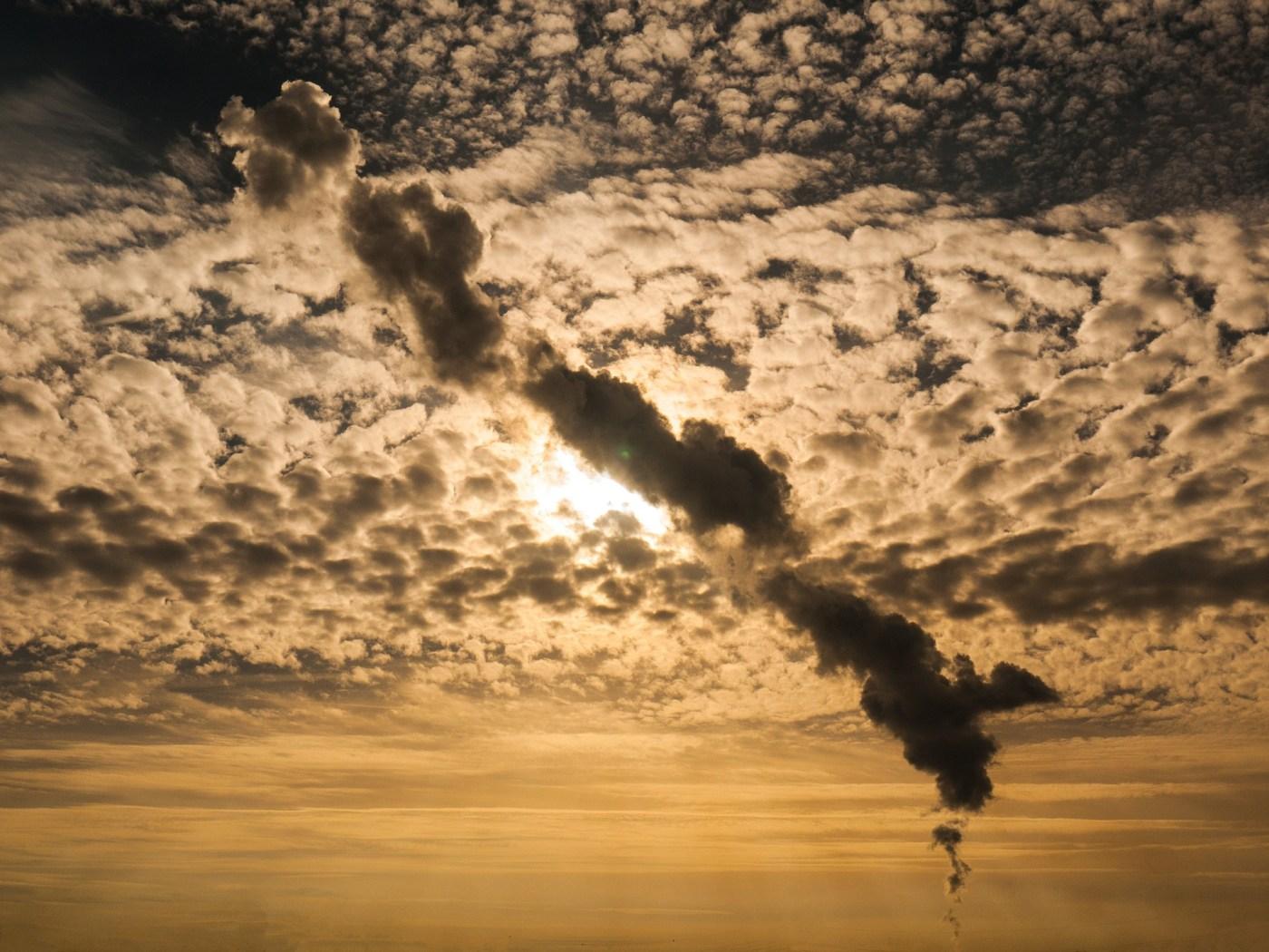 Sky with smoke