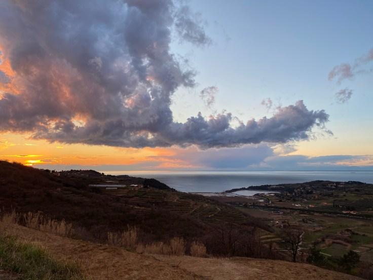cloud, sunset, sea
