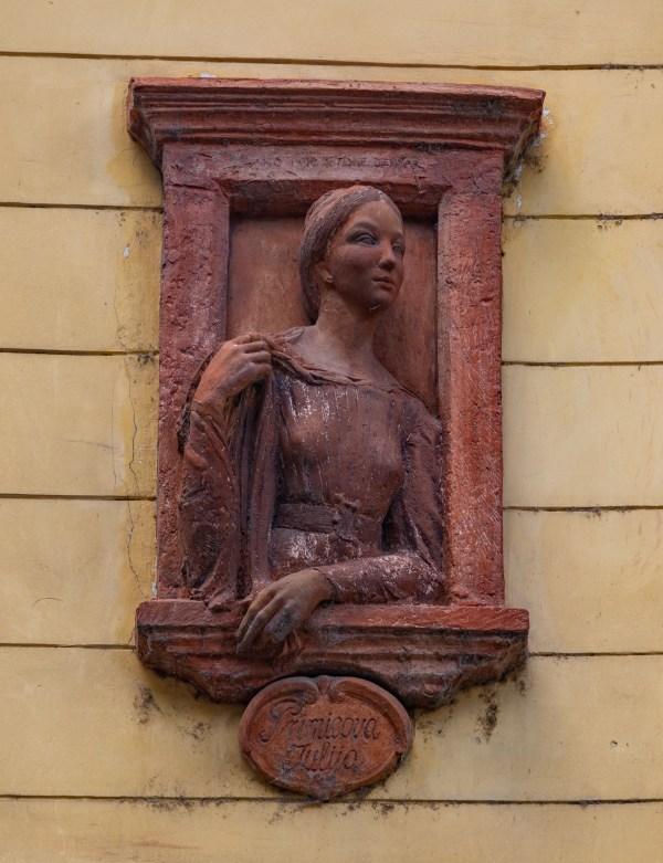 Julija Primic Statue Ljubljana