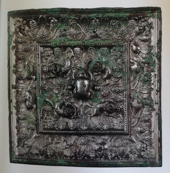 Miroir carré en bronze d'époque (Tang 618-907)
