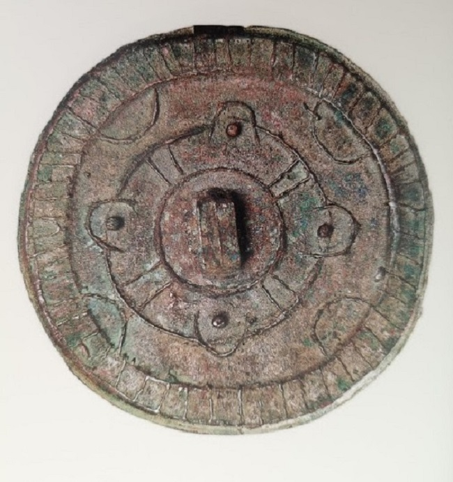 Trés ancien miroir rond de la dynastie ancienne des Shang
