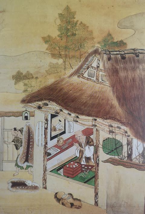 Artisans au travail dans une maison