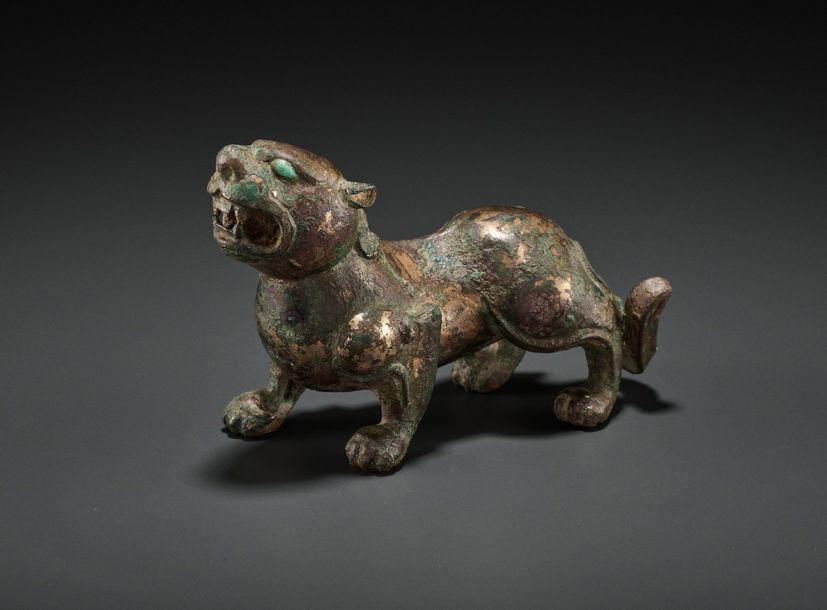 enchère vente lion bronze