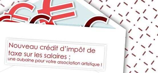 Compta-Théatre - Nouveau crédit d'impôt de taxe sur les salaires : une aubaine pour votre association artistique !