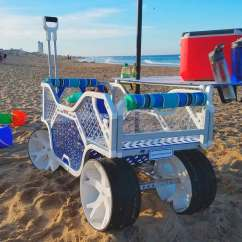 Wheeled Beach Chair Reclining Office With Leg Rest Best Wagon For Sand Oct 2018 Balloon Big Wheels