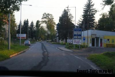 Граница с Чехией, продажа виньеток и полиция