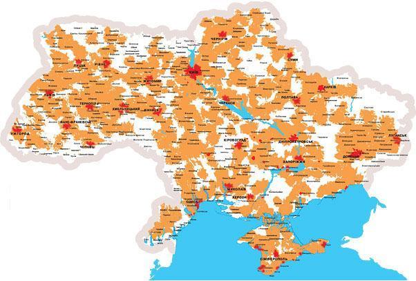 Карта Покрытия 3G Лайф