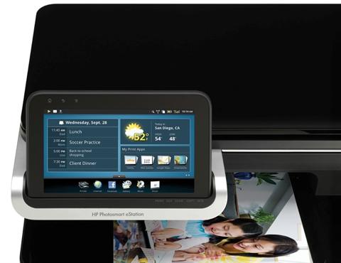 Панель управления HP Photosmart eStation