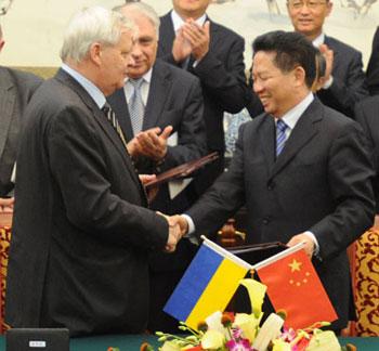 в ходе государственного визита Президента Украины В.Ф. Януковича в КНР