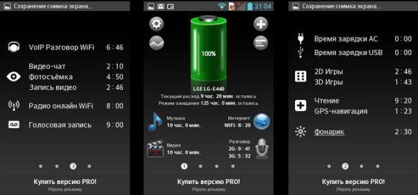 Тест батареи LG Optimus L4 II E440